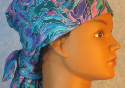 Hair Stocking-Blue Green Purple Pink Flame Silver Swirls-right