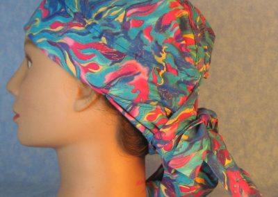 Hair Stocking-Blue Turquoise Pink Yellow Flame Gold Wave-left
