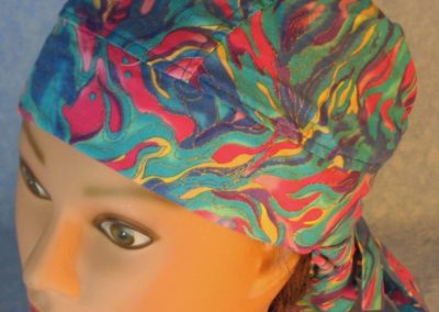 Hair Stocking-Blue Turquoise Pink Yellow Flame Gold Wave-top