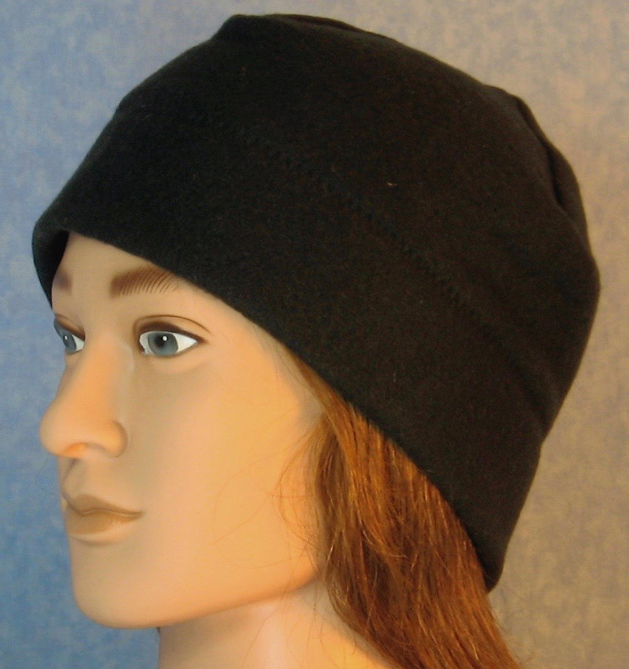 Beanie Band Cap in Black-Adult 2XL