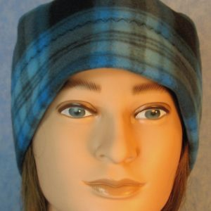 Beanie-Blue Black Plaid-front