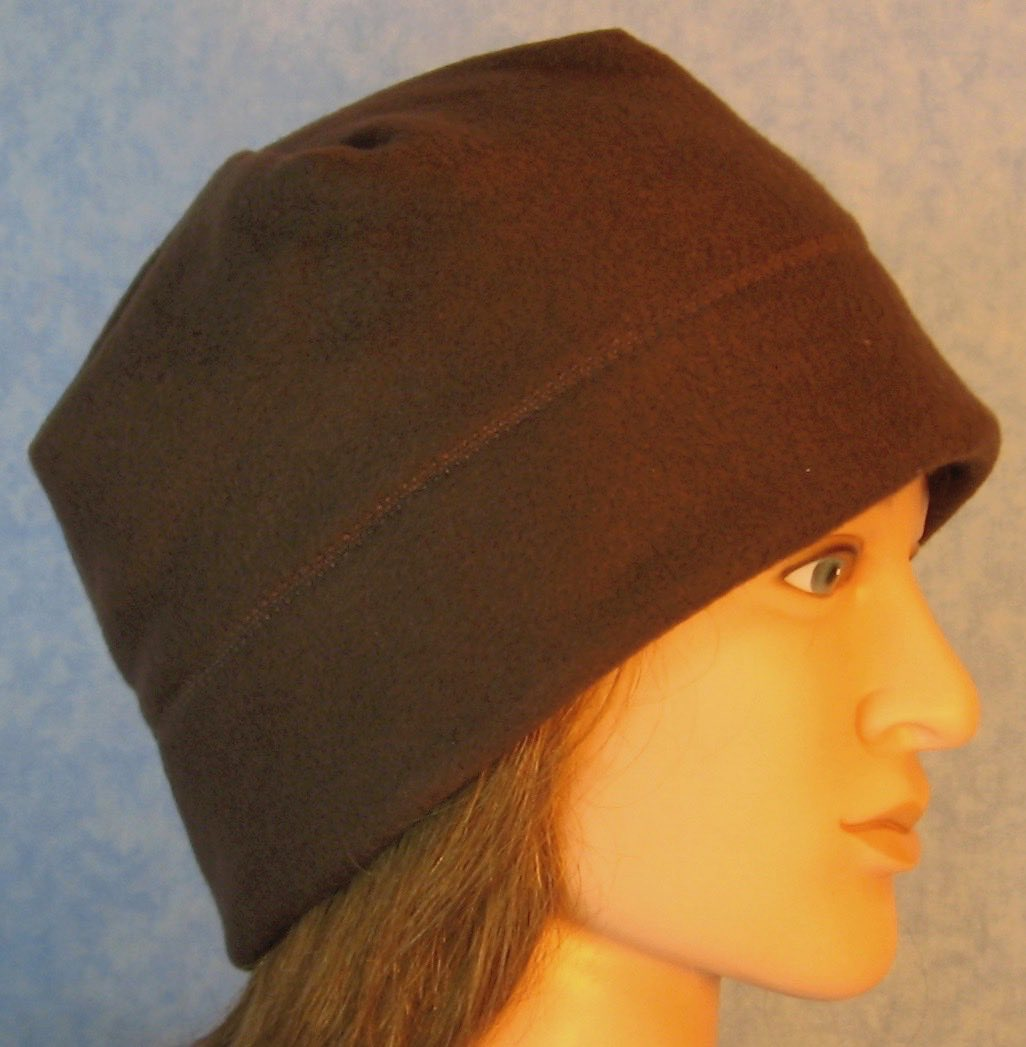 Beanie Band Cap in Brown-Adult M