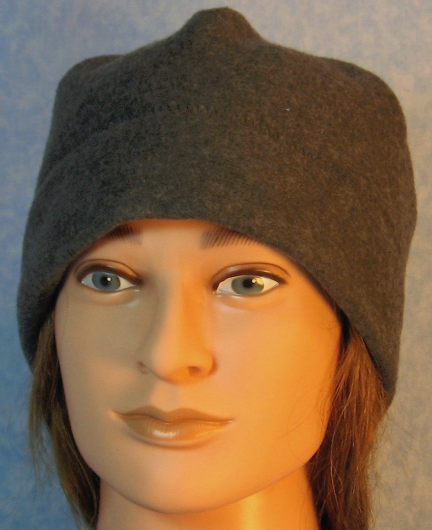 Beanie Band Cap in Dark Gray-Adult L