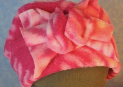 Beanie-Pink Tie Dye with Flower-Baby-front