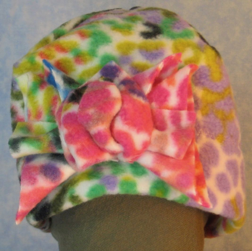 Beanie Band Flower Cap in Rainbow Bright Speckle-Baby 12 Month