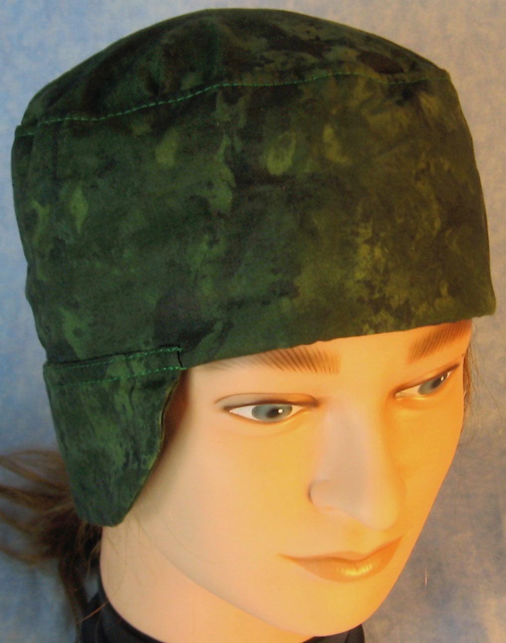 Welding Cap-Dark Green Motley-Adult L
