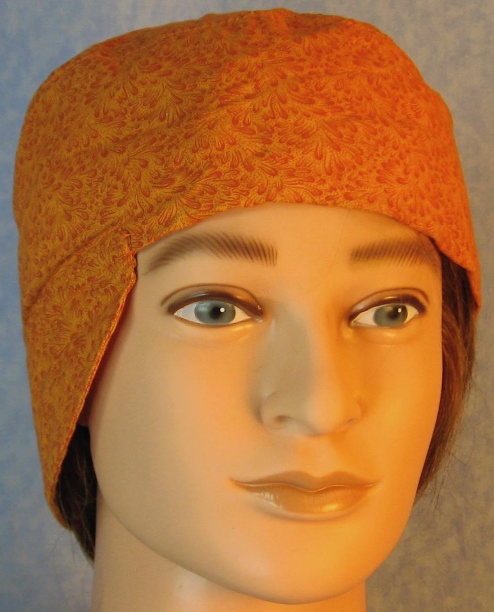 Welding Cap-Orange Orange Feather Splash-Adult L