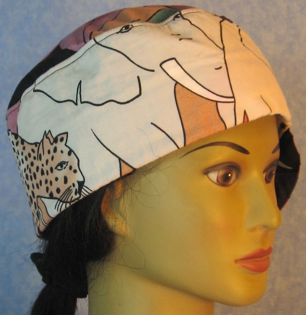Welding Cap-Elephant and Cheetah on Pink-Adult 1XL