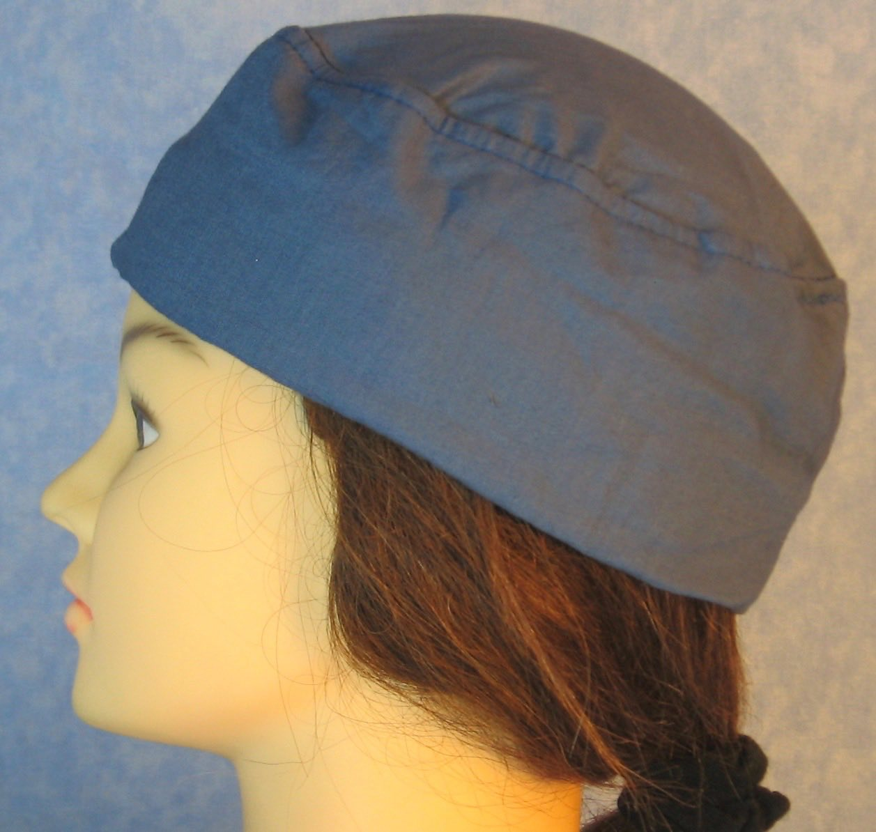 Skull Cap-French Blue-Adult XL