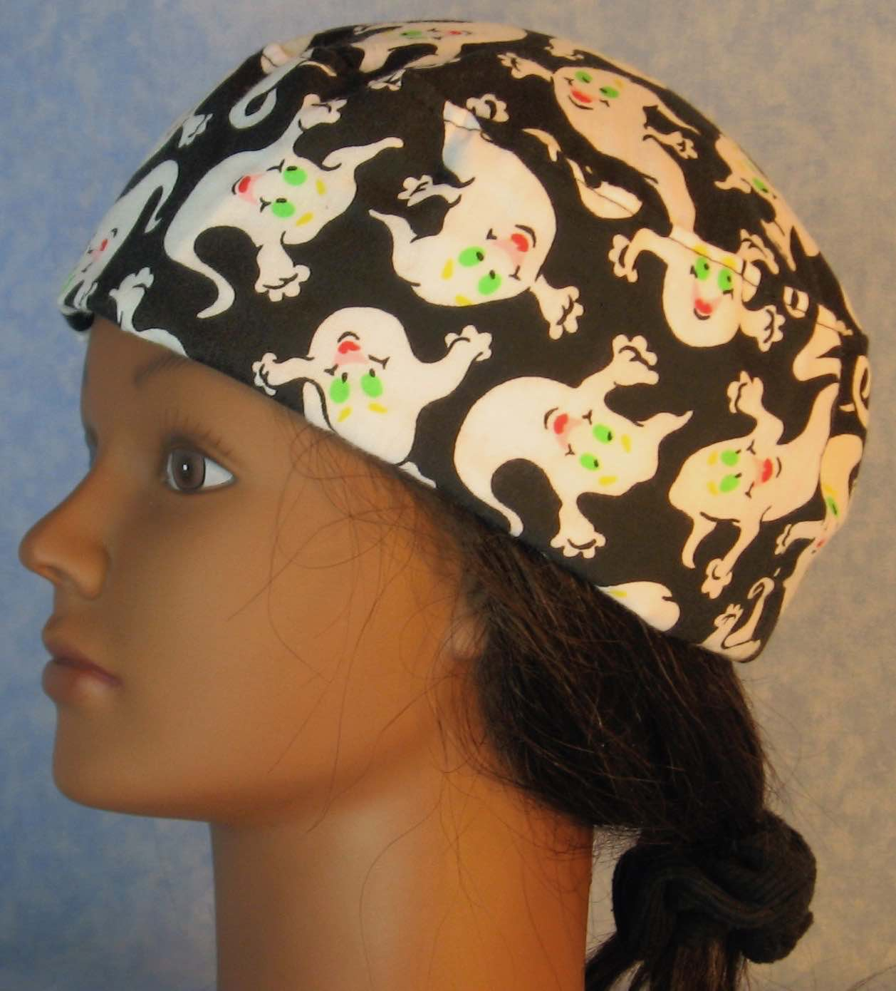 Skull Cap-Green Eyed Ghosts-Adult M