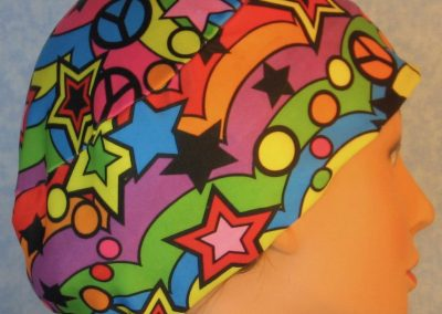 Skull-Pastel Chevrons Peace Signs Stars Performance Knit-right