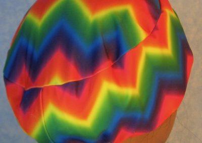 Skull-Rainbow Chevron Performance Knit-back
