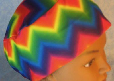 Skull-Rainbow Chevron Performance Knit-top right
