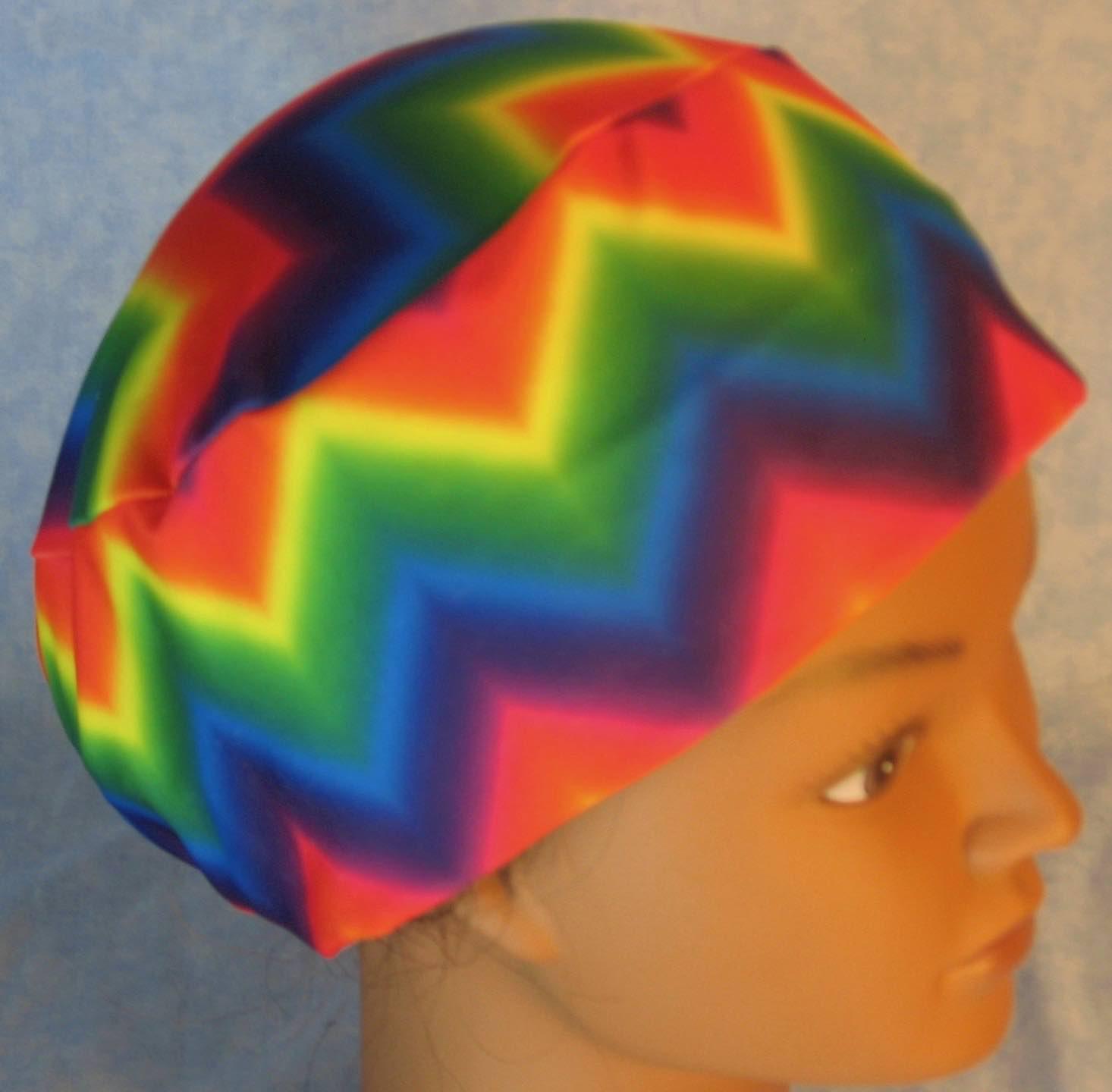 Skull Cap-Rainbow Chevron Performance Knit-Adult XL