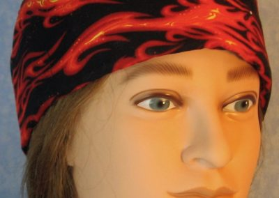Skull-Red Orange Flame-front