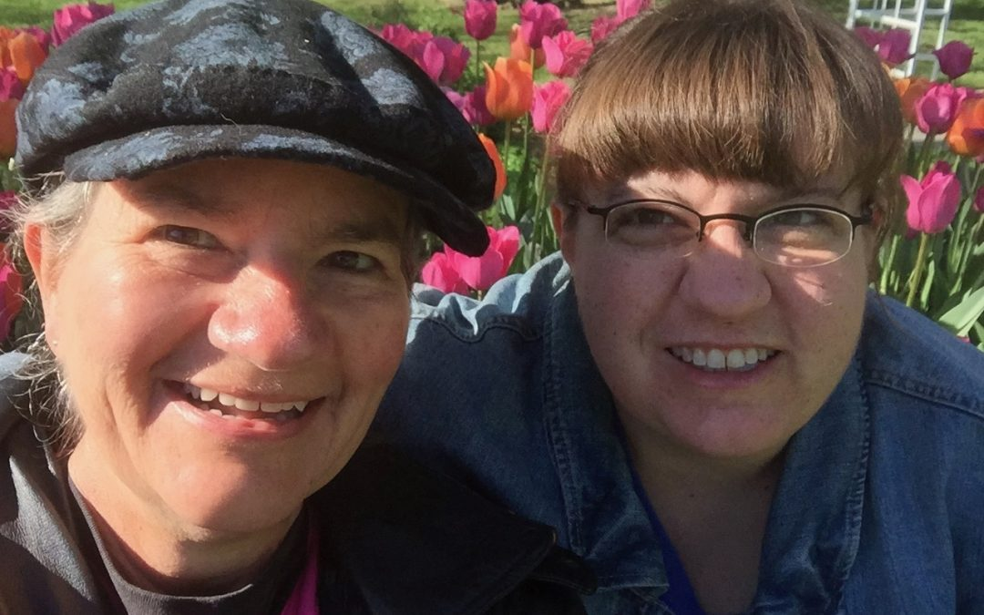 Becky & Beth with Tulips Wamego 2017