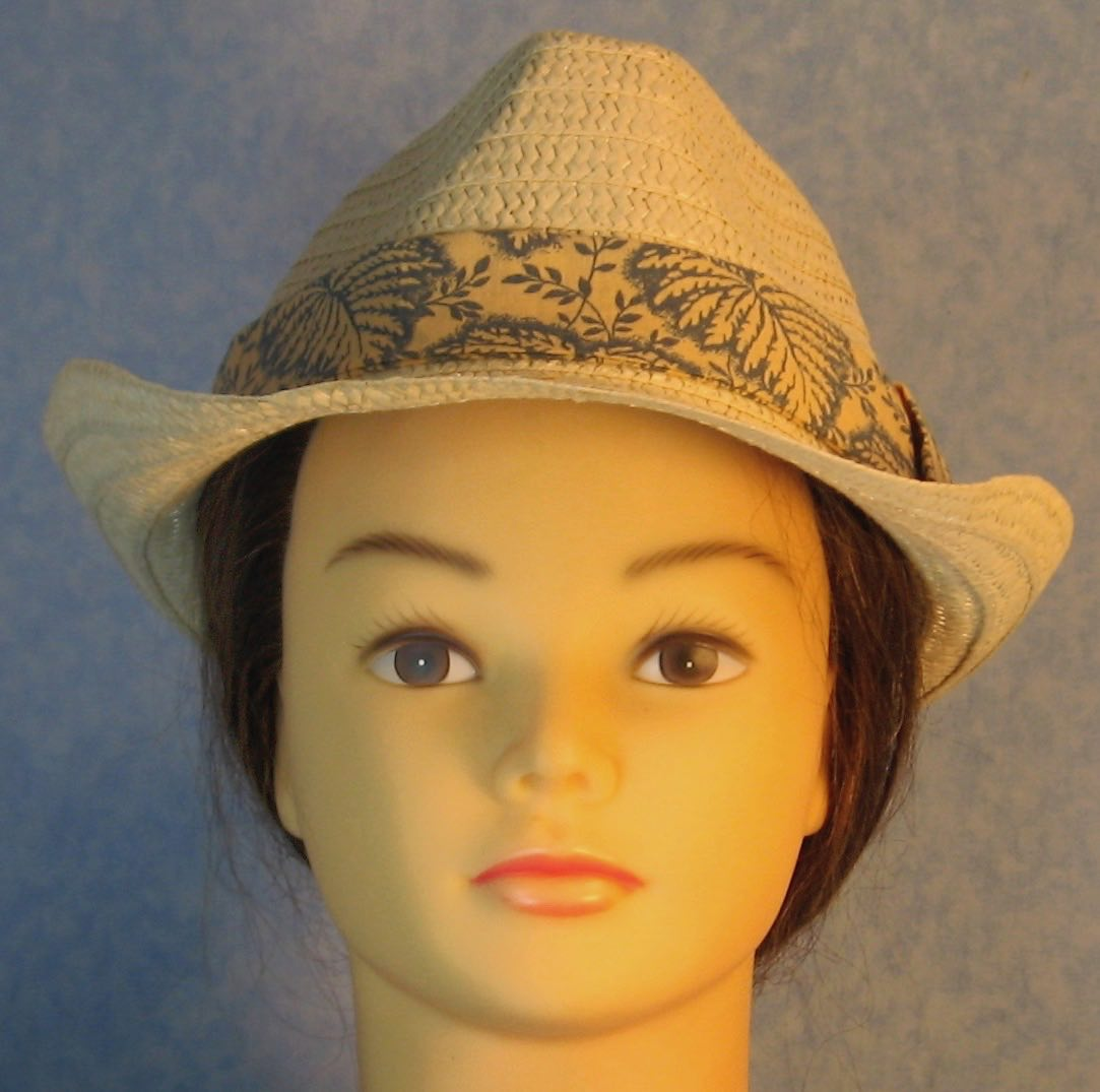 Fedora Hat-Tan Paper Braid