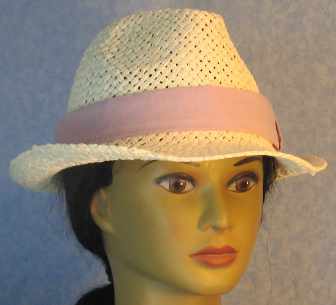 Fedora Hat-Ivory Open Paper Braid