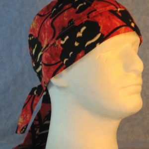 Do Rag in Black Firefighters on Red Orange Flames-right