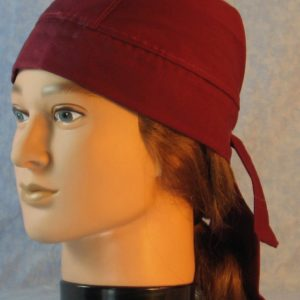Do Rag in Burgundy Red-left