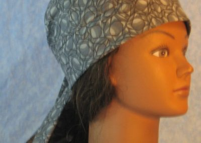 Do Rag in Gray Geometric Diamond Shape with Black Outline-right