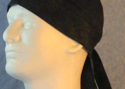 Do Rag in Navy Teal Black Smudged Looking Water Print-left