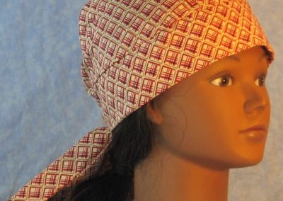 Do Rag in Red Crosshatch Square on Tan-right