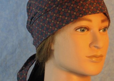 Do Rag in Rust Square Tan Star on Navy-front