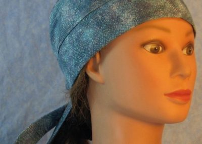Do Rag in Turquoise Blue Gray Lavender Crosshatch-right