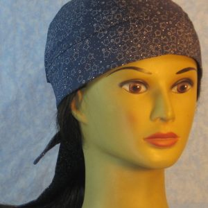 Do Rag in White Dotted Star Moon on Navy-front