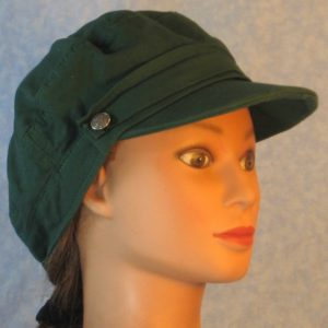 Biker Cap in Forest Green-right