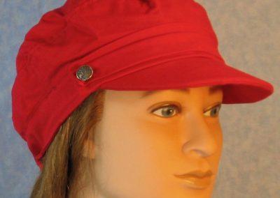 Biker Cap in Red-right