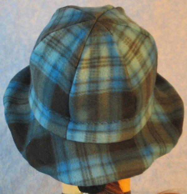 Cloche in Blue Black Plaid-back