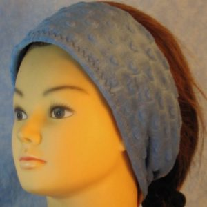 Ear Warmer in Blue Dimple-left