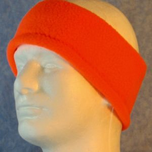 Ear Warmer in Fluorescent Orange-left