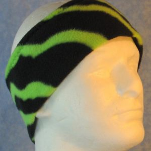Ear Warmer in Green Black Zebra-right