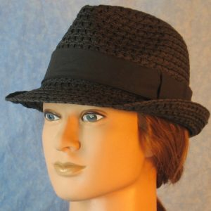 Fedora Band in Black-black left