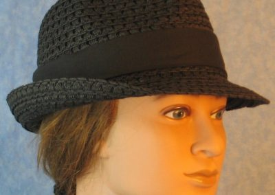 Fedora Band in Black-black right