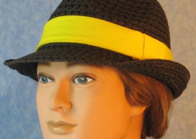 Fedora Band in Bright Yellow-left