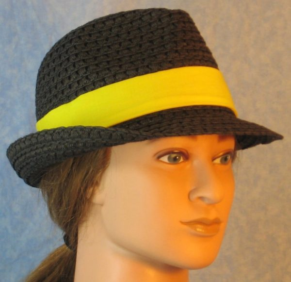Fedora Band in Bright Yellow-right