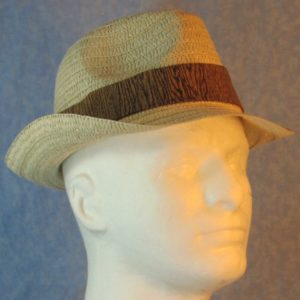 Fedora Band in Brown Wood Oak-right