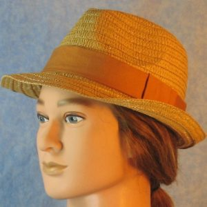 Fedora Band in Camel Brown Orange-left