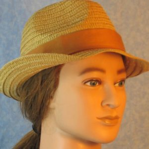 Fedora Band in Camel Brown Orange-right