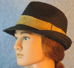 Fedora Band in Tan Motley-left