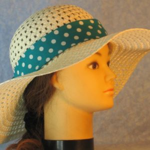 Floppy Bands in Turquoise with White Polka Dots-right