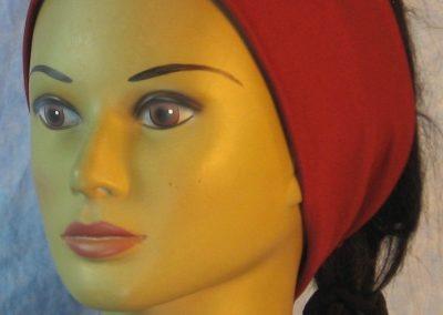 Headband in Burgundy Moisture Management Jersey-front