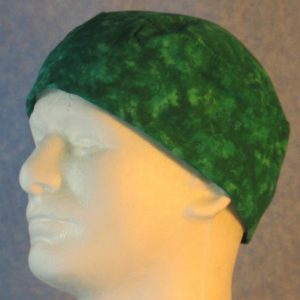 Skull Cap in Green Motley-left