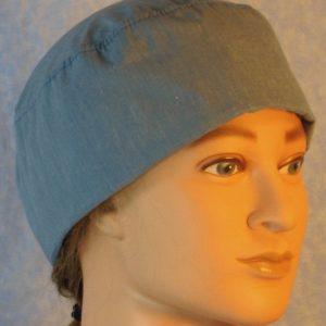 Skull Cap in Light Blue Gray-left