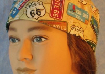Skull Cap in Route 66 with License Plates-left