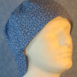 Welding Cap in Blue Stick Design on Light Blue-right